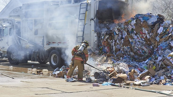 EREF survey aimed at understanding the frequency and cause of fires at waste, recycling facilities