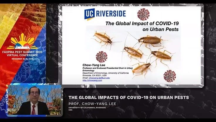 Dr. Chow-Yang Lee Discussed COVID-19's Pest Impact at FAOPMA Meeting