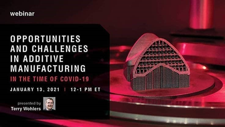 Terry Wohlers talks additive manufacturing Jan. 13, 2021