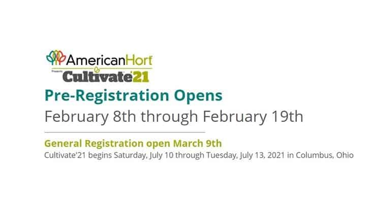 Cultivate'21 pre-registration opens on Feb. 8