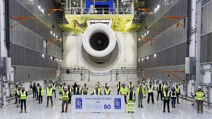 Rolls-Royce runs first engine on its large, smart testbed