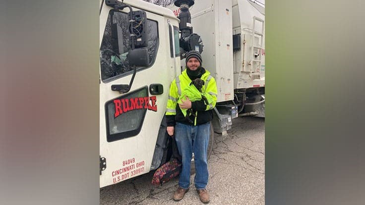 Rumpke driver comes to the aid of injured, abandoned puppy