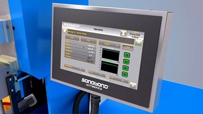 Sonobond Ultrasonics' Advanced HMI with Smart Touchscreen