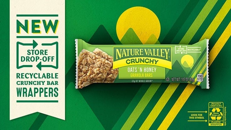 Nature Valley debuts recyclable plastic film wrapper