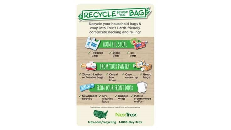 Trex launches retail recycling incentive program