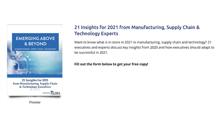 Manufacturing expert shares 21 tips for 2021