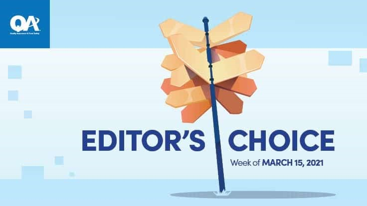 QA Editor's Choices for the Week of March 15
