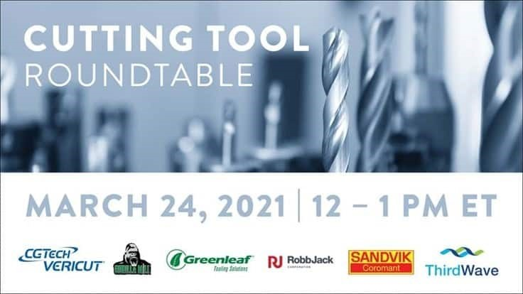 Free Cutting Tool Roundtable webinar Wednesday