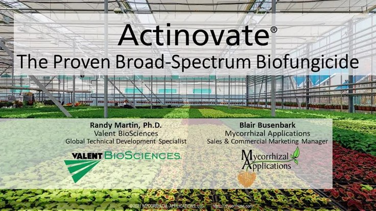 Actinovate: The Proven Broad-Spectrum Biofungicide