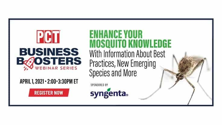 Enhance Your Mosquito Control Knowledge by Attending Thursday's Business Booster Webinar