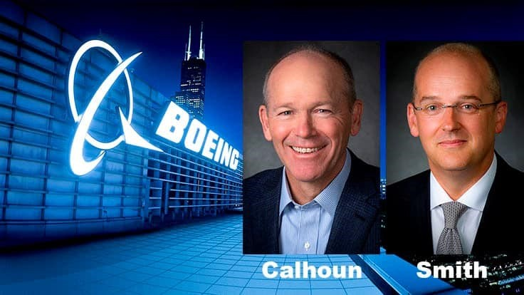 Boeing extends CEO Calhoun's retirement age, CFO Smith to retire