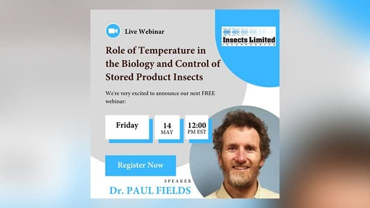 Fields to Present Next Insects Limited Webinar