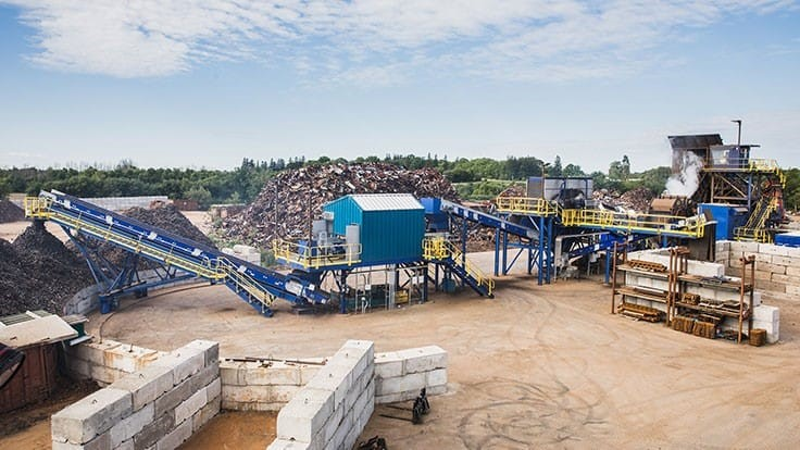 DMS Metals' modular auto shredder and downstream provide versatility