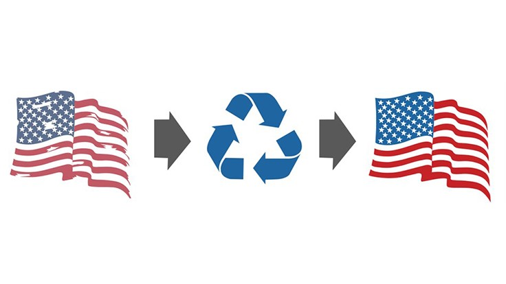 Advanced Disposal facilities recycle American flags