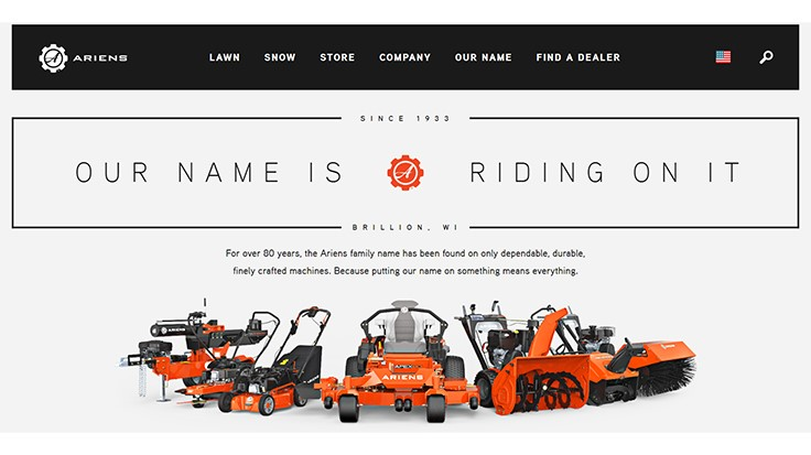 Ariens launches new website