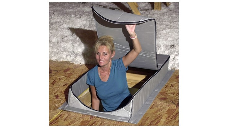 Attic Tent is a Folding Attic Stair Insulation Cover