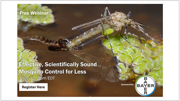 Upcoming Webinar: Effective, Scientifically Sound Mosquito Control for Less