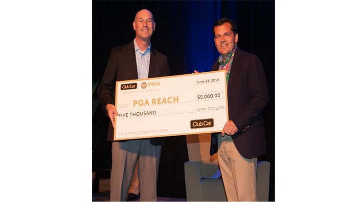 Club Car presents $5,000 to PGA REACH