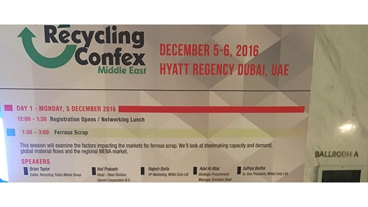2016 Recycling Confex Middle East: Which way next?