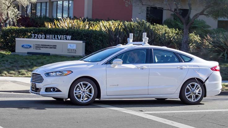 Ford to test self-driving cars in California