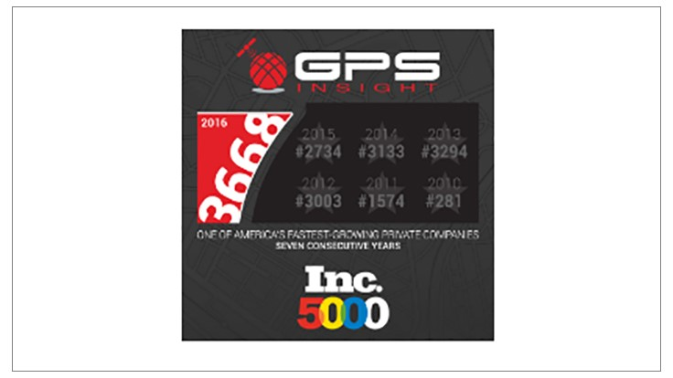 GPS Insight Ranked on Inc. 5000 for Seventh Consecutive Year