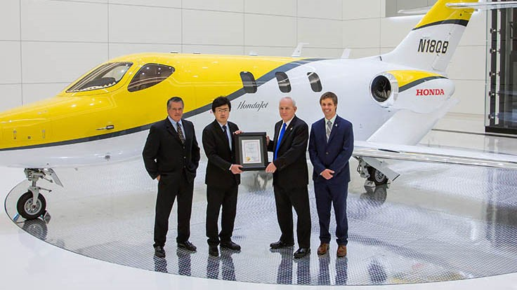 Honda Aircraft Co. secures Canadian type certification