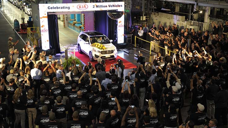 Kia Georgia plant makes 2 millionth vehicle