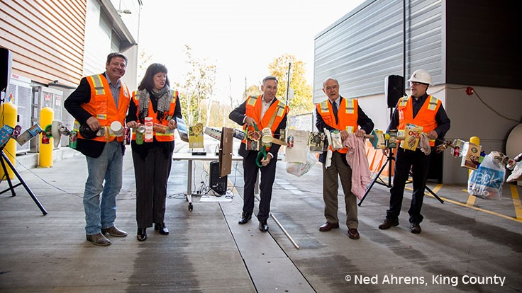 Washington's King County dedicates recycling and transfer station