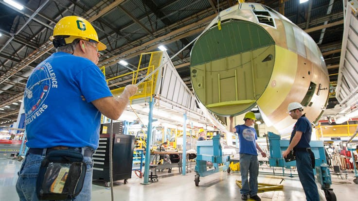 First LM-100J commercial freighter production proceeds