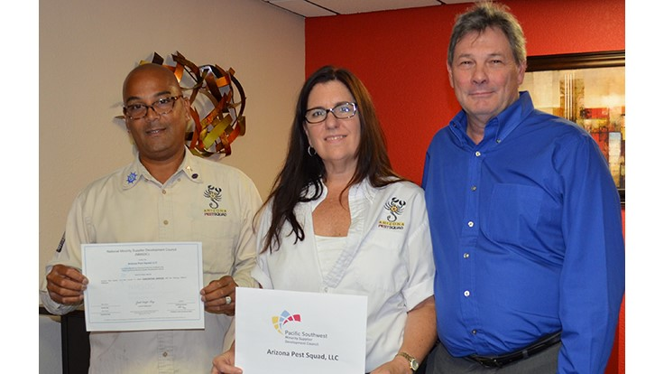 Arizona Pest Squad Receives SBE, DBE and MBE Certifications