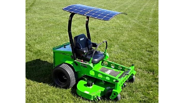 Solar Powered Commercial Mower Hits The Market Lawn