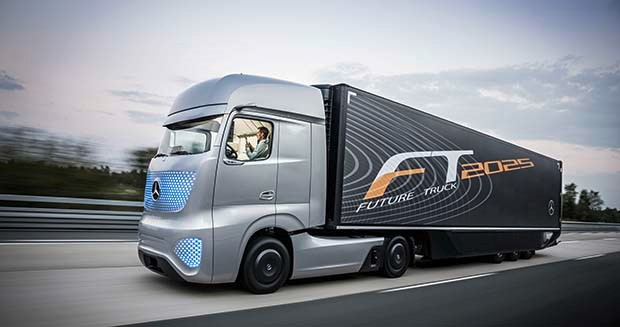 Mercedes shows off self-driving commercial truck, says could be on the road in 2025