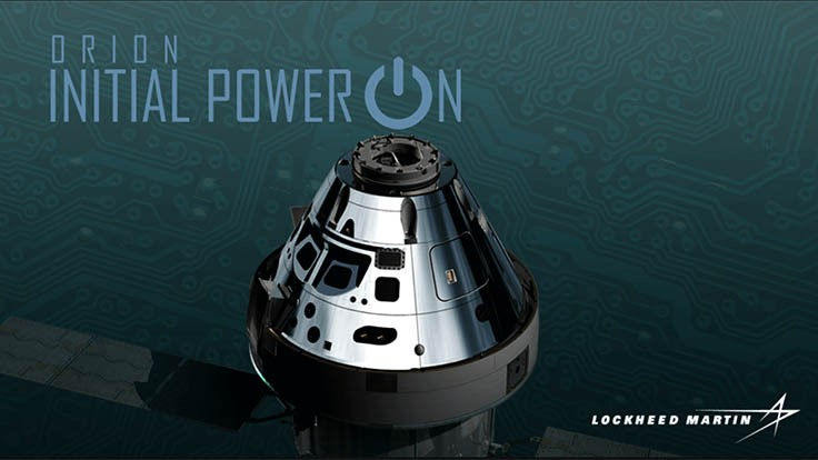 Lockheed Martin powers-up next Orion spacecraft for first time