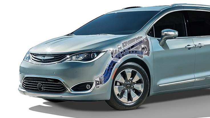 Hydroformed Vari-Form rail cuts support size in Chrysler Pacifica