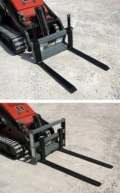 Mini skid-steer pallet