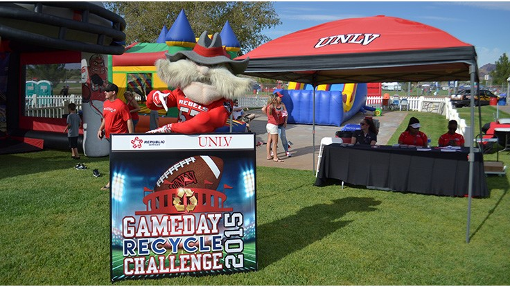 Republic Services plays for UNLV recycling team