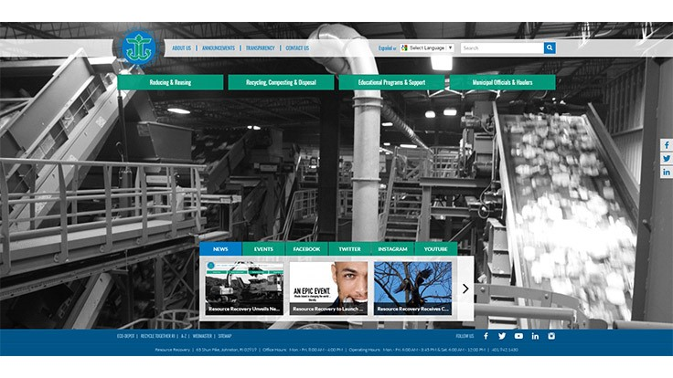 Rhode Island Resource Recovery unveils updated website