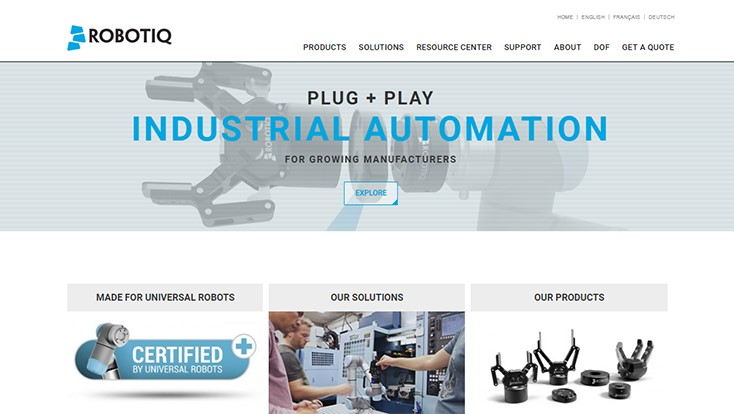 Robotiq templates make industrial automation easier