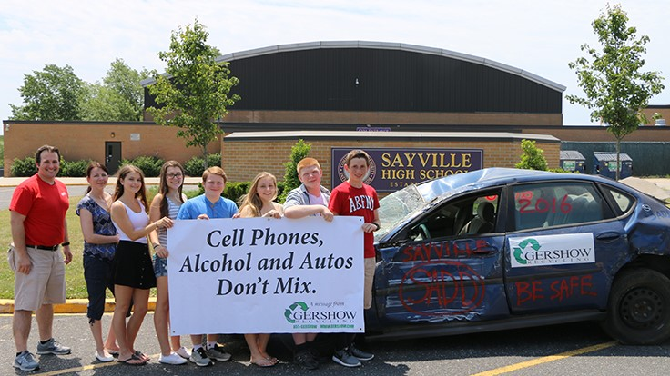 Gershow Recycling teaches Sayville, New York, SADD students