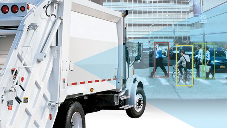 Mobileye Shield+ System is designed to prevent collisions between trucks and pedestrians