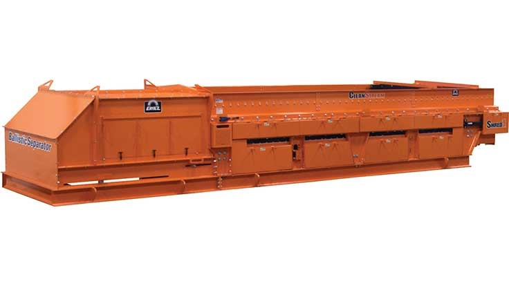 Eriez touts the success of its Shred1 ballistic separators