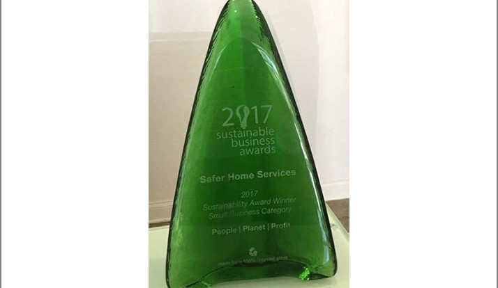 Safer Home Services Recognized for Sustainable Contributions