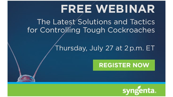 Webinar: The Latest Solutions and Tactics for Controlling Tough Cockroaches