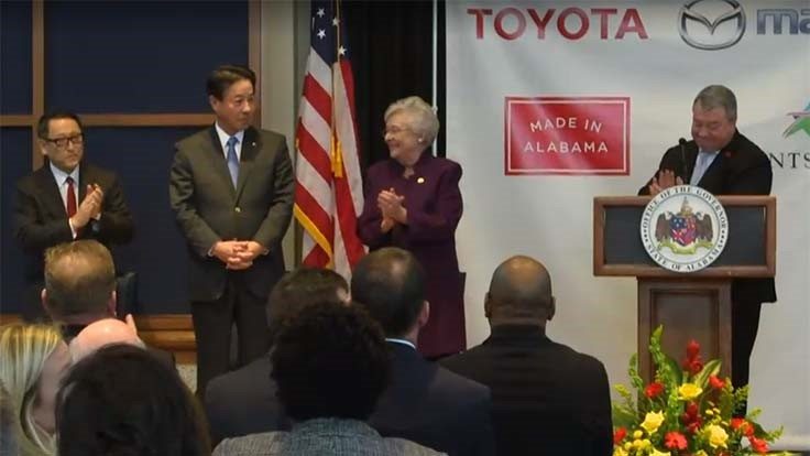 $1.6 billion Mazda-Toyota assembly plant to be built in Huntsville, Alabama