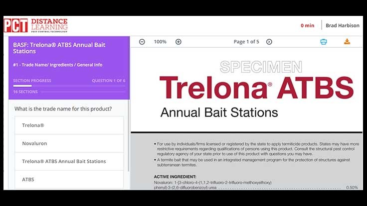 Online Label Training Modules for Trelona ATBS and Selontra Rodent Bait Now Live