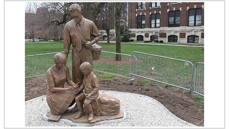 Purdue Sculpture Honors Legacy of Pioneering Entomologists