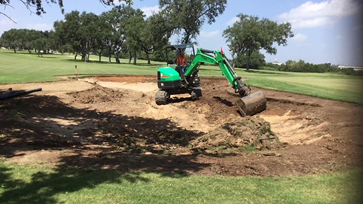 Texas club begins bunker renovation