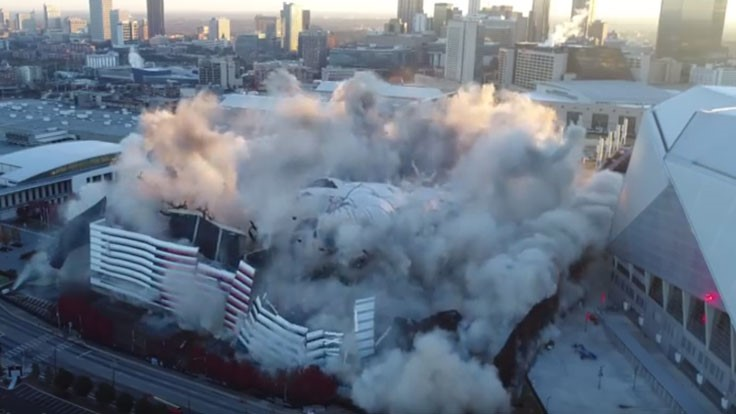 Georgia Dome Implosion Video