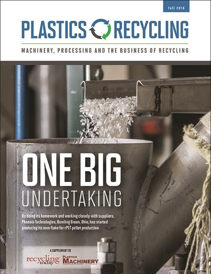 October 2016 Plastics Recycling Magazine